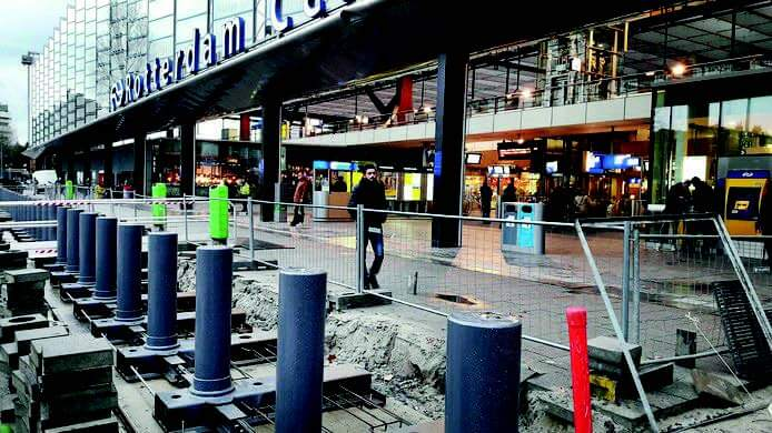 Rotterdam Central Rail Station Protected by Cova Security Gates