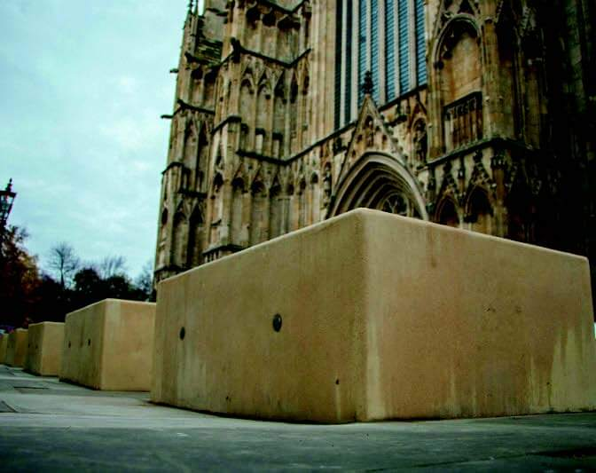Anti-terror blocks installed at York Minster