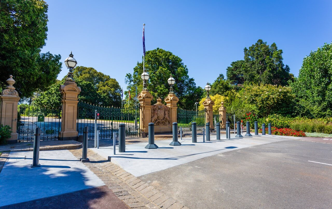 Heald Bollards Secure Government Facility in Australia