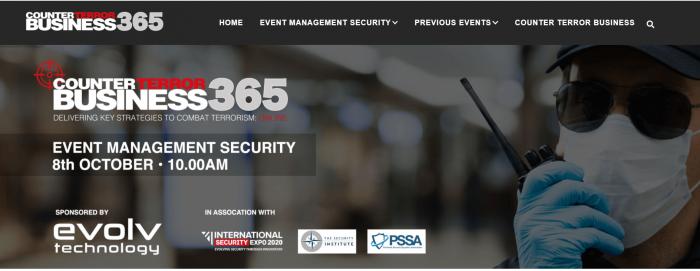 Event Management Security Webinar – 8th October 2020