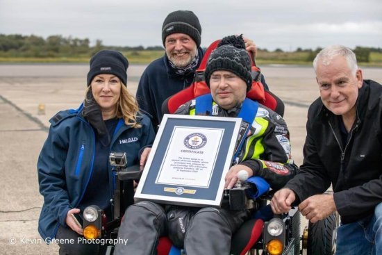 Security manufacturer supports terminally ill man to achieve Guinness World Record